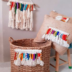 Tassel-Rainbow-Cushion
